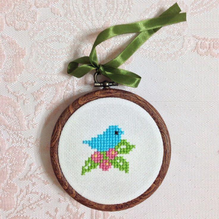 Cross stitch,bird,çarpı işi
