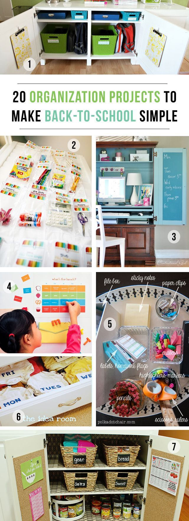 20 Organization Projects to Make Back to School a