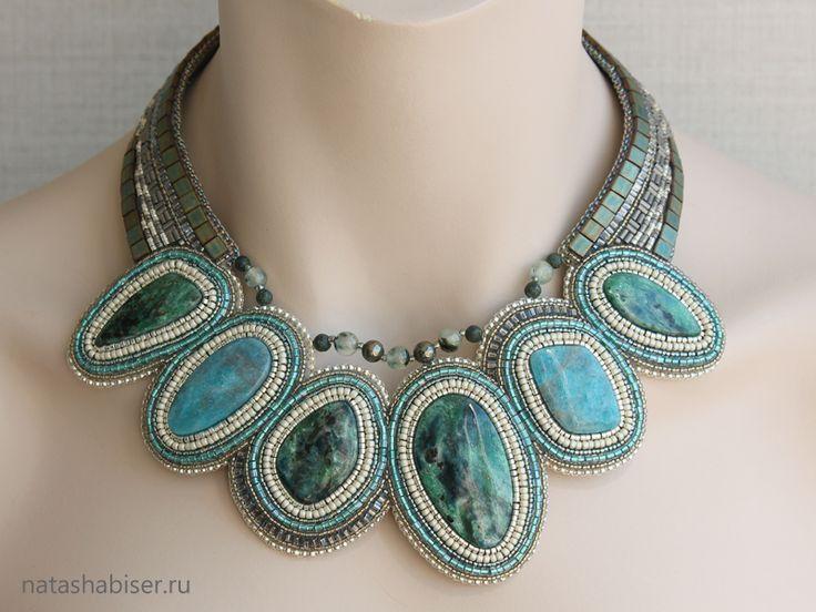 NatashaBiser.ru - украшения из бисера, украшения ручной работы, купить украшения, продажа украшений - Колье (0355)