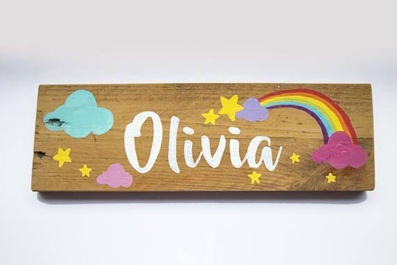 Personalised Bedroom Door Signs Wooden Name Plaque Hand Painted