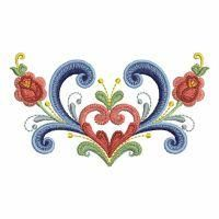 Rosemaling Roses - Ace Points   OregonPatchWorks