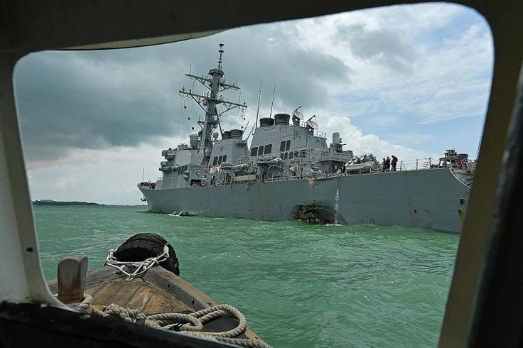 In the wee hours last Monday, American guided-missile destroyer USS John S. McCain sailed through the Singapore Strait, one of the world's busiest seas where vessels are sometimes separated by under a nautical mile, or about 1.8km.. Read more at straitstimes.com.