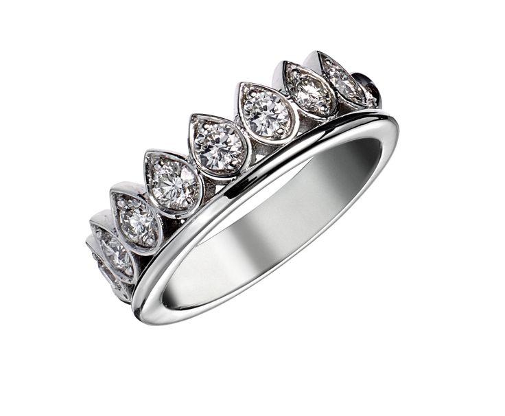 Bague de fiançailles LEONCE Or Blanc et Diamants.