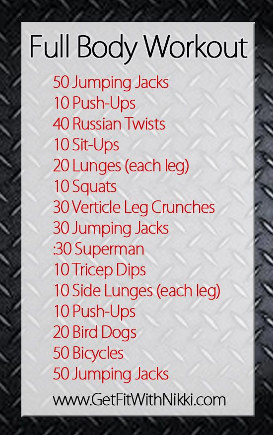 I did this full body workout yesterday. I added a few reps in whenever I felt like I needed an extra push. Great workout.