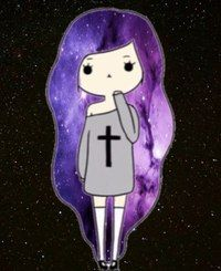 Chica con pelo galactico 7