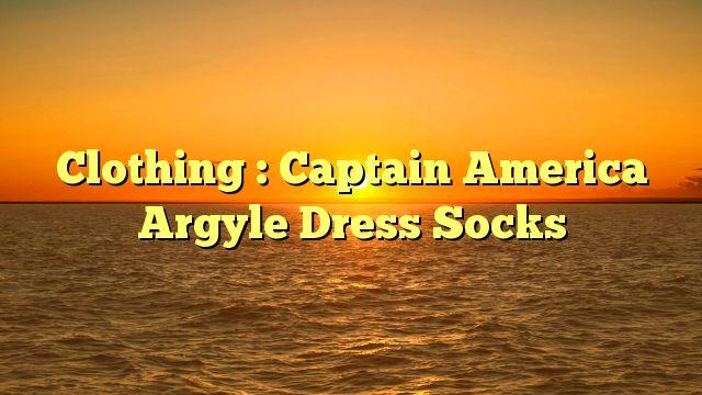 Clothing : Captain America Argyle Dress Socks - http://4gunner.com/clothing-captain-america-argyle-dress-socks/