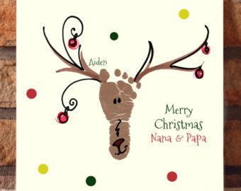 Your child's actual footprints! footprint art, baby's first christmas keepsakes…