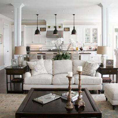 Farmhouse Open Kitchen Living Room | 25,402 open concept living room kitchen Home Design Photos