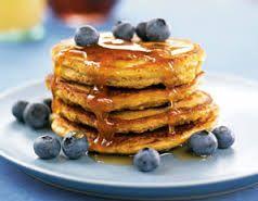 Healthy Blueberry Pancakes  Recipe: http://www.healthemporium.com.au/2012/05/blueberry-spelt-pancakes/