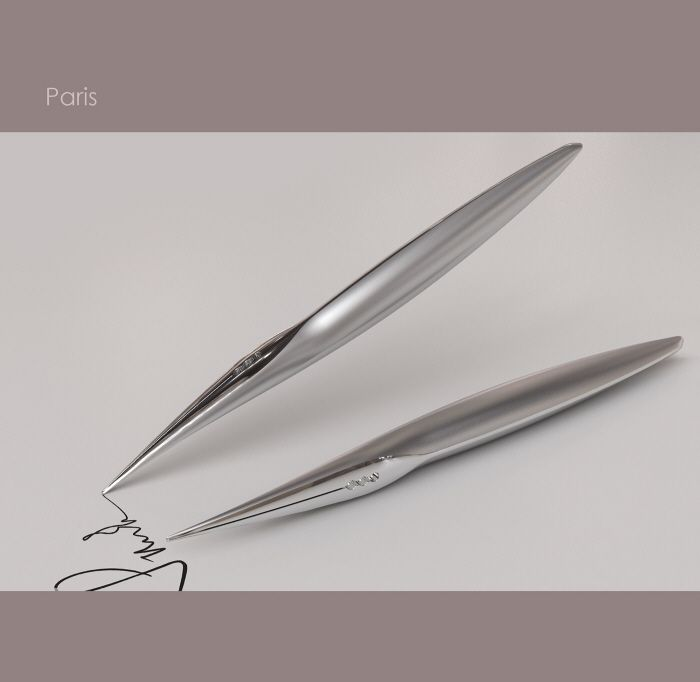 A range of pen concepts modelled in Rhino and rendered in Vray.
