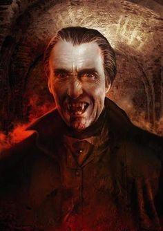 Artwork of Christopher Lee as Dracula