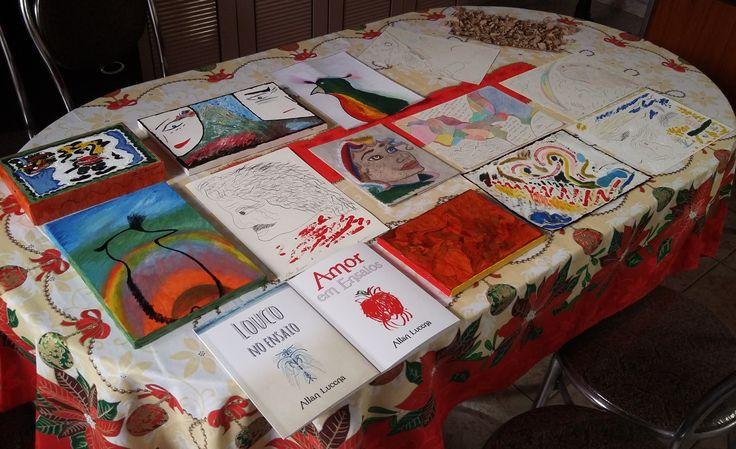 Meus quadros e meus livros! `^^´