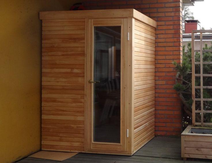 Infrared sauna installed outside.  www.saunalahja.fi