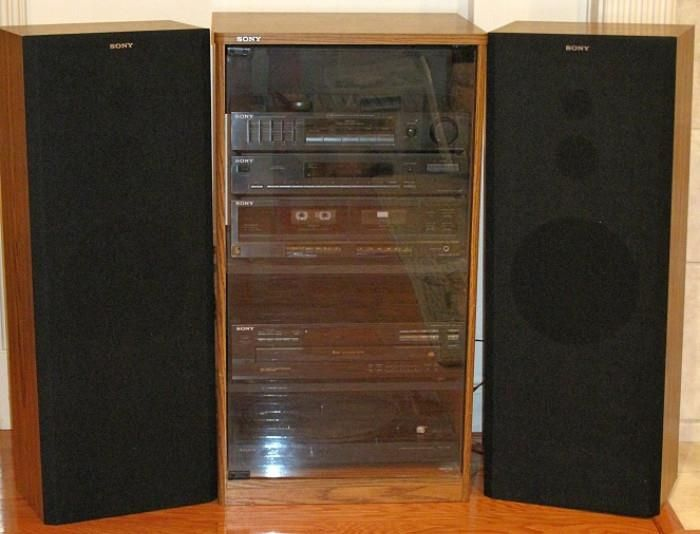 Sony Audio Tower Entertainment System 5 Band Graphic