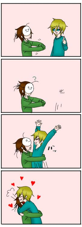 surprise hug from pewds! haha im just gonna put myself in yur arms.. :)