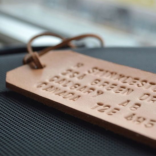 Father's Day DIY: Embossed Leather by Fairgoods