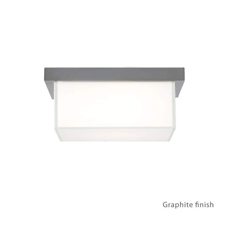 "Modern Forms FM-1410 Ledge 1 Light 8"" Wide LED Outdoor Flush Mount Ceiling Fixtu"