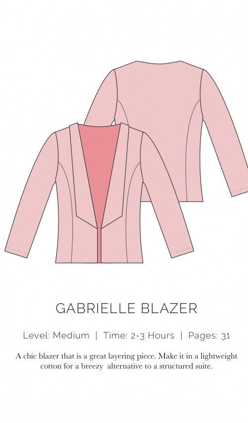 Gabrielle Blazer - free pdf pattern, but pls consider to donate