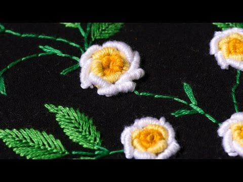 Embroidery designs by hand DIY Stitching Tutorial | HandiWorks #107 | Cantinho do Video