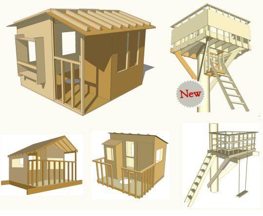 Simple Tree House Blueprints