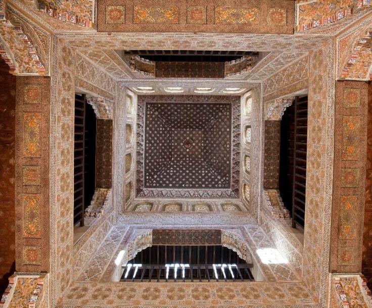 Ba o de comares situado entre el palacio de los leones y - Banos arabes palacio de comares ...