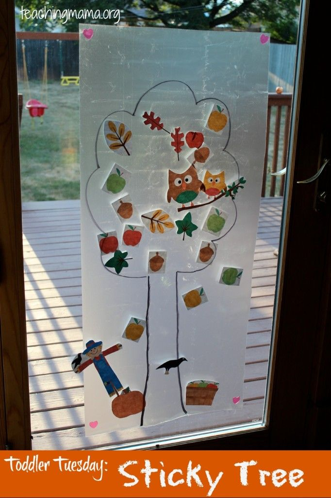 Sticky Tree Activity from Teaching Mama