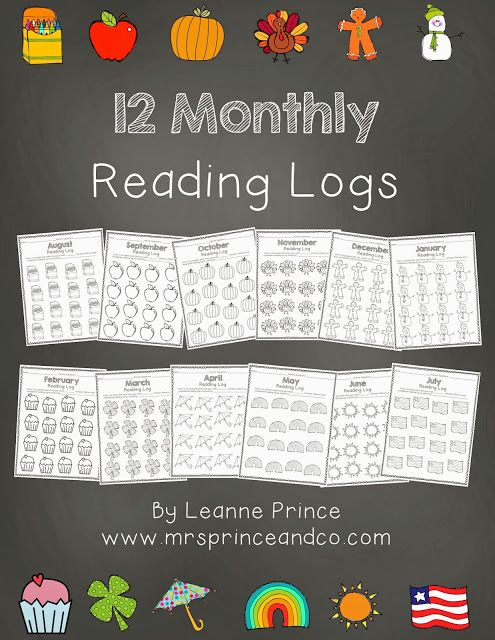 Monthly Reading Logs, Homework Reading Logs  mrs. prince & co.