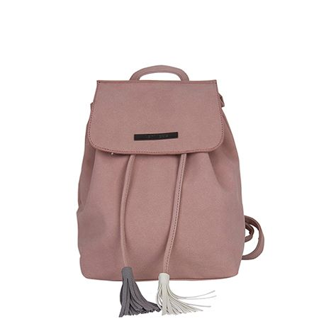 Pink backpack with tassels. #cute #newcollection #backpack #spring2017 #cleancuts #stylish #fashionable #musthave