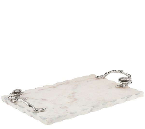 Inspire Me Home Decor Marble Tray With Accents Qvc Com Marble Tray Contemporary Home Decor Inspire Me Home Decor