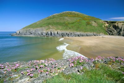 Mwnt Beach near Holiday cottages