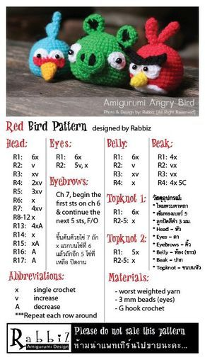 Angry Birds' Red bird pattern