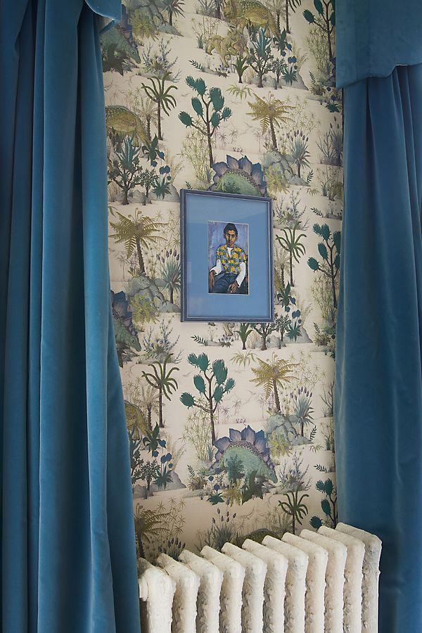 Dinosauria by House Of Hackney - Ecru : Wallpaper Direct Boys Bedroom Wallpaper, Toile Wallpaper, Interior Wallpaper, Kids Bedroom, House Of Hackney Wallpaper, Wallpaper For House, Home Town Hgtv, Dinosaur Wallpaper, Luxury Nursery