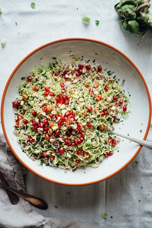 winter buckwheat + shaved brussels sprout bowl   dolly and oatmeal