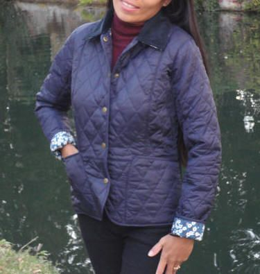 Barbour Ladies Liberty Liddesdale Quilted Jacket - Navy LQU0293NY91   Red Rae Town & Country Barbour Ladies Quilt Jackets