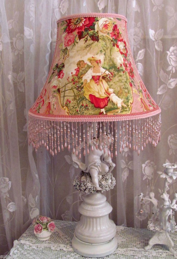 68 best 9 some of my lampshades ebay wwwshabbyshades 12 lamp shade chic pink french fragonard toile richloom fabric cameo shabby aloadofball Gallery