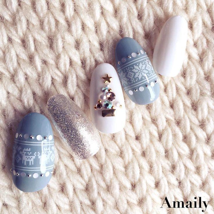 Christmas nails simple nail art