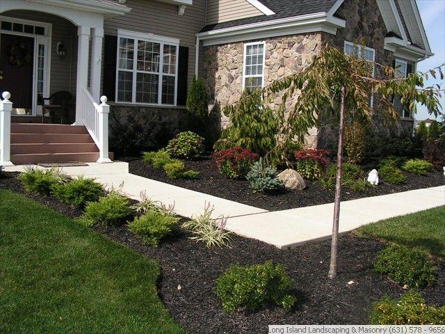 landscaping front sidewalk landscaping ideas long island landscape design home outside. Black Bedroom Furniture Sets. Home Design Ideas