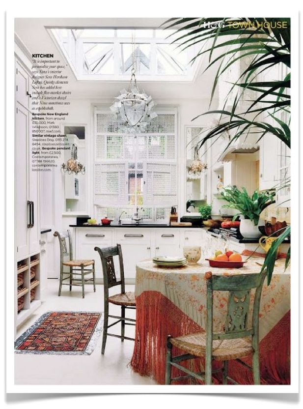 French Bohemian Kitchen. *One of the best, non-fussy, non-che-che, clean and simple kitchens that I have seen!
