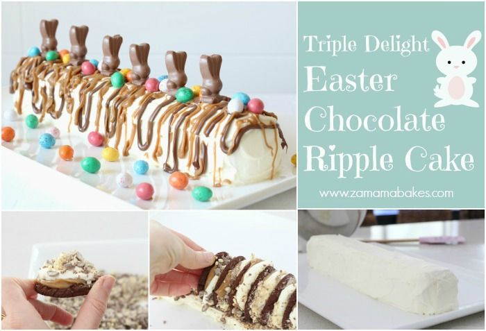 Triple Delight Easter Chocolate Ripple Cake - I am definitely making this next Easter!!