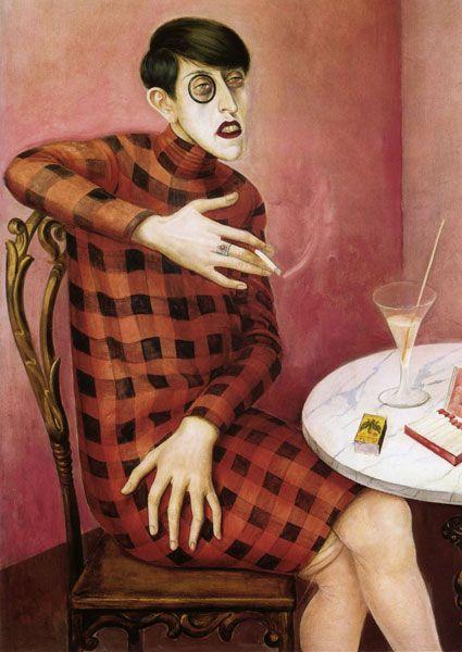 Otto Dix  - Portrait of the Journalist Sylvia von Harden (1926)