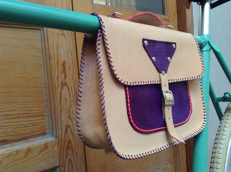 cartera de cuero p/ bicicleta, accesorios hocico rosa