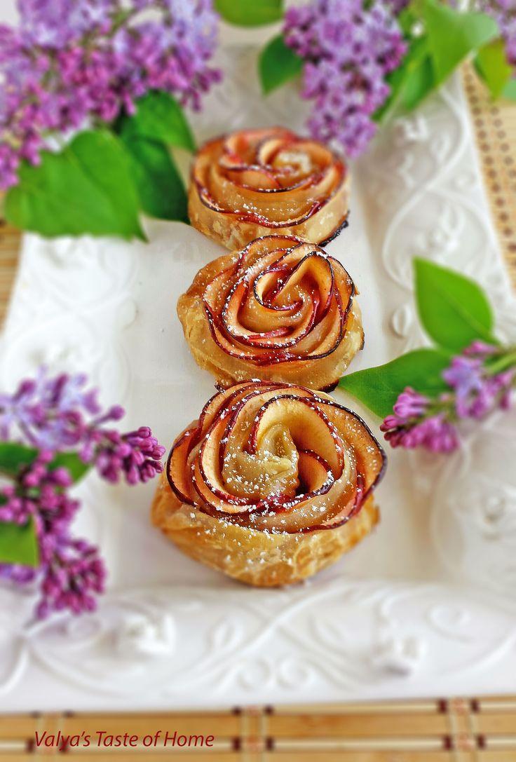 Apple Roses Desert Recipe http://valyastasteofhome.com/apple-roses-desert-recipe/