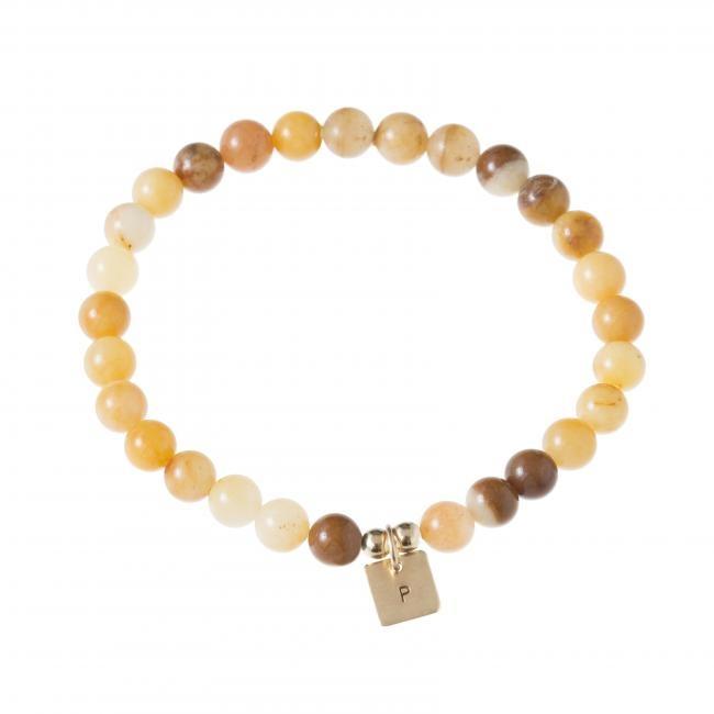 Mini Initial Jade Bracelet