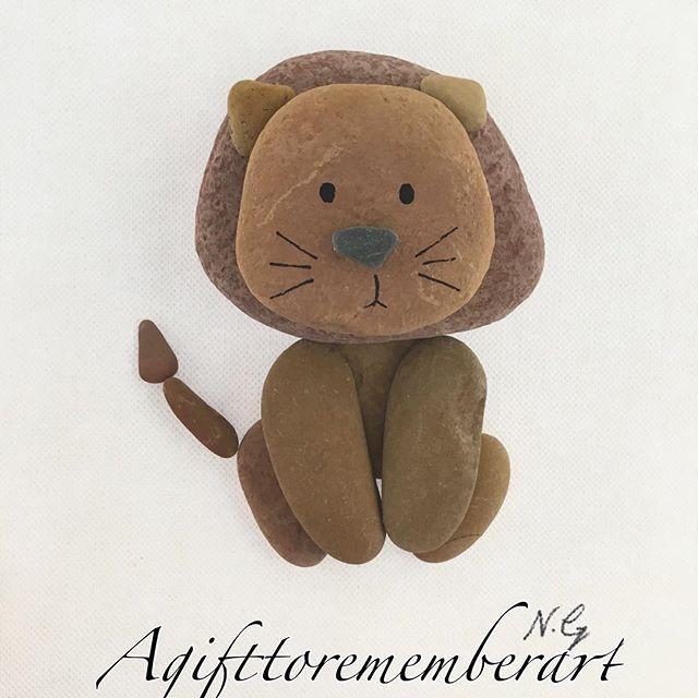 Pebble lion