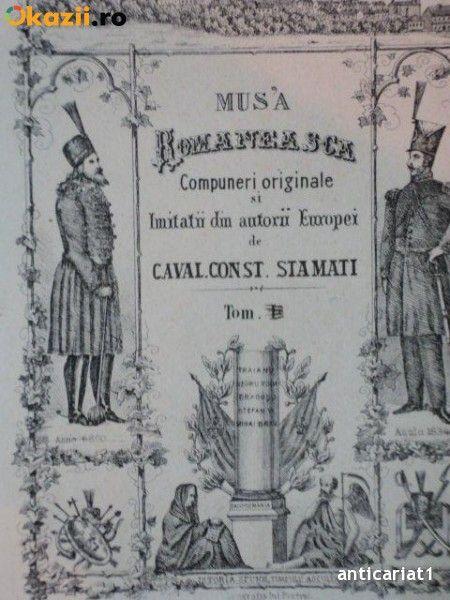 MUSA ROMANEASCA, COMPUNERI ORIGINALA SI IMITATII DIN AUTORII EUROPEI de CAVAL CONST. STAMATI foto mare