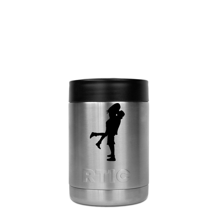 RTIC Can Cooler Romantic Couple Kiss Laser Etched