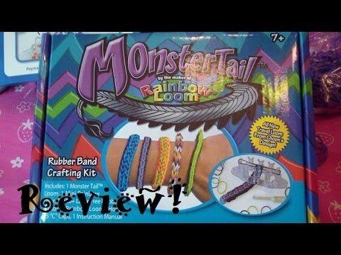 MonsterTail by Rainbow Loom Review  Full Tutorial! (Quadfish)