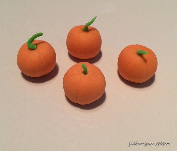 Pumpkin 3D Cupcake Topper by JuRodriguesAtelier on Etsy