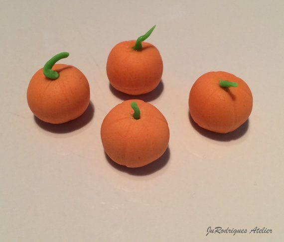 Pumpkin 3D Cupcake Topper by JuRodriguesAtelier on Etsy