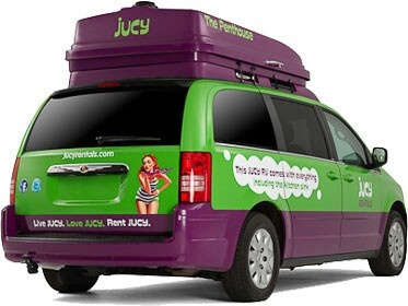 Originally part of Enterprise Rent-A-Car's minivan inventory, the LWB Chrysler and Dodge vans were acquired by Jucy after a year of standard rental use. Credit: Jucy Rentals